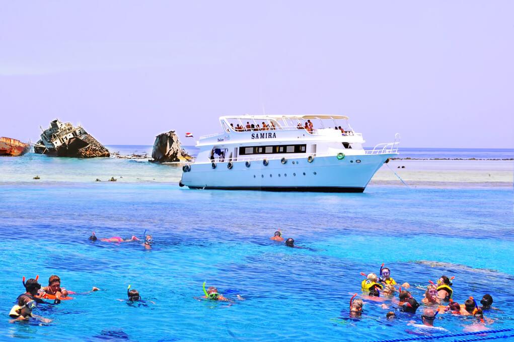 رحلة بحرية الي جزيرة تيران